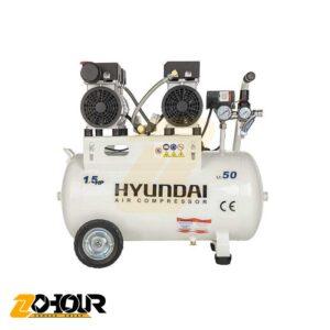 کمپرسور هوا سایلنت 50 لیتری هیوندای مدل HYUNDAI Silent AC-1550