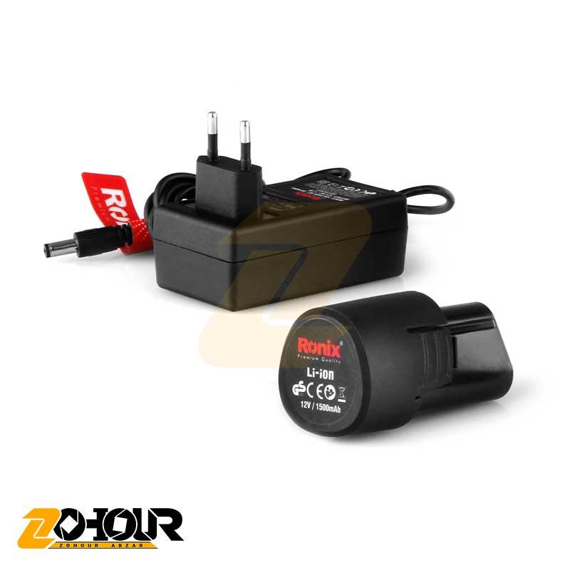 دریل پیچگوشتی شارژی 12 ولت رونیکس مدل Ronix 8012