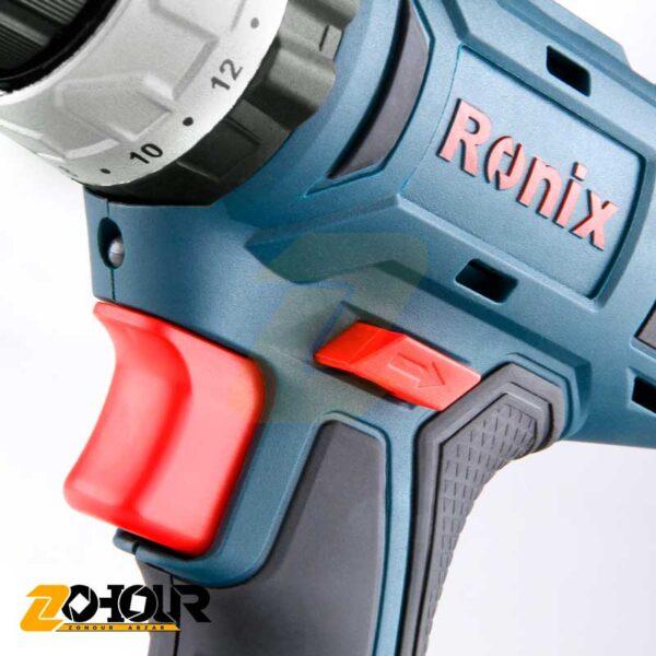 دریل پیچگوشتی شارژی 18 ولت رونیکس مدل Ronix 8018