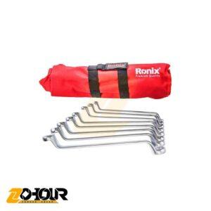 آچار سری 8 عددی دو سر رینگ رونیکس مدل Ronix RH-2301