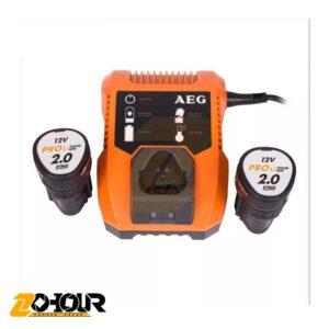 دريل شارژي دوسرعته 12 ولت مدل AEG BS12C2LI-202CRCC