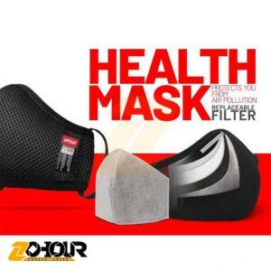 ماسک فیلتر دار 5 لایه یحیی،قابل شست و شو،فیلتر قابل تعویض،به همراه سه فیلتر YAHYA