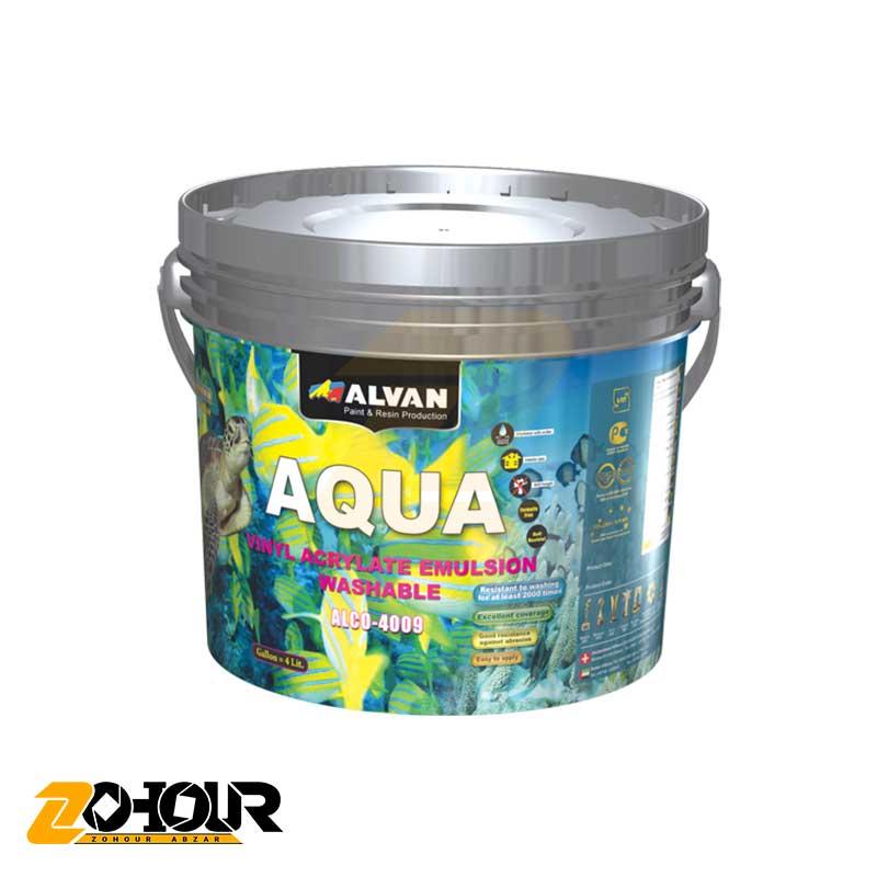 پوشرنگ تمام پلاستیک مات الوان حجم گالن الوان ALVAN ALCO-4009