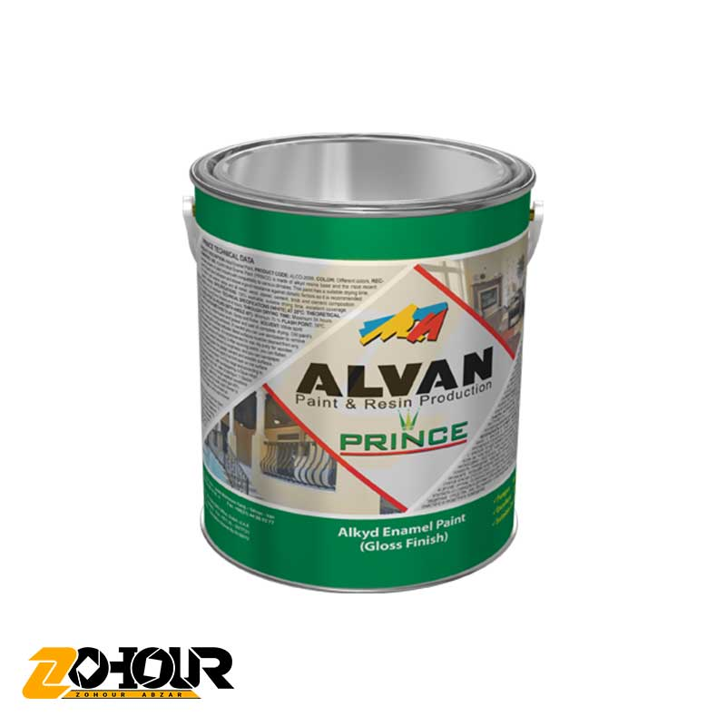 پوشرنگ روغنی آلکیدی حجم کوارت الوان ALVAN ALCO-2009