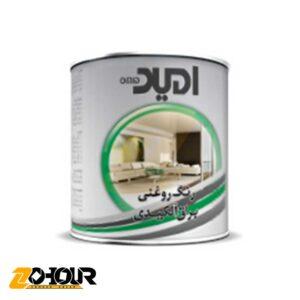 رنگ روغنی براق سفید استاندارد امید حجم حلب Omid