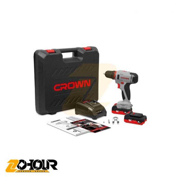 دریل شارژی 16 ولت کرون مدل Crown CT21082