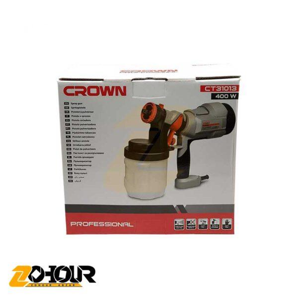 پیستوله رنگ پاش برقی 400 وات کرون مدل Crown CT31013