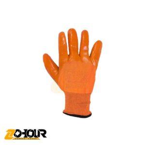 دستکش ضدبرش مدل ژله ای نارنجی درجه 1