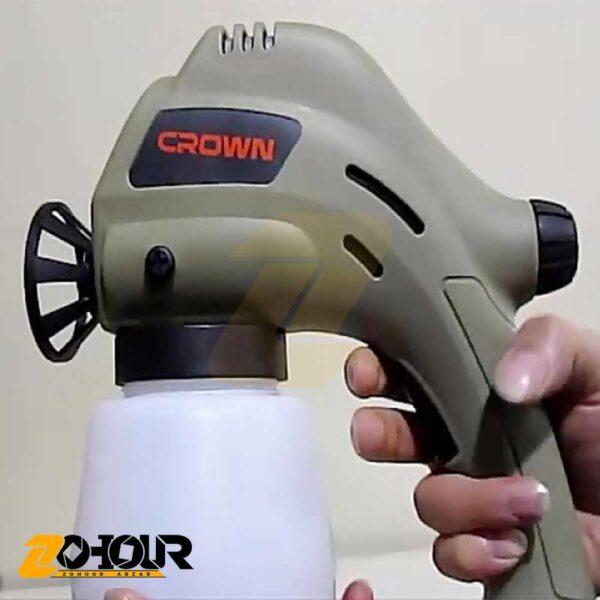 پیستوله رنگ پاش برقی 80 وات کرون مدل Crown CT31007