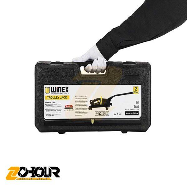 جک 2 تن سوسماری همراه کیف وینکس مدل Winex EH1501